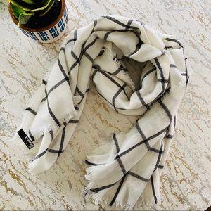 Express White Black Stripe Blanket Scarf